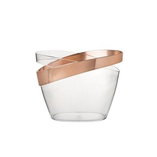 Seau à champagne en plexiglas et cuivre