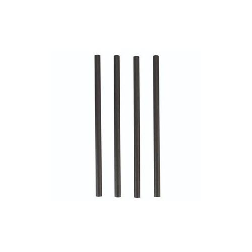 Pailles droites noires en papier 6x140mm