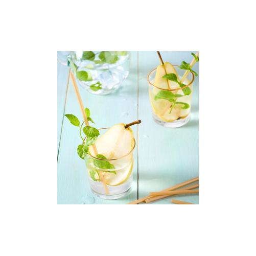 Pailles en canne à sucre - 21 x 6 mm - Sachet de 100