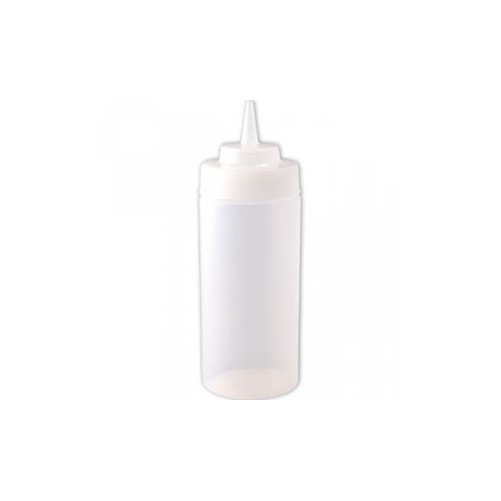 Squeeze bottle 45cl col large - transparente En plastique souple - Code article: SB045T