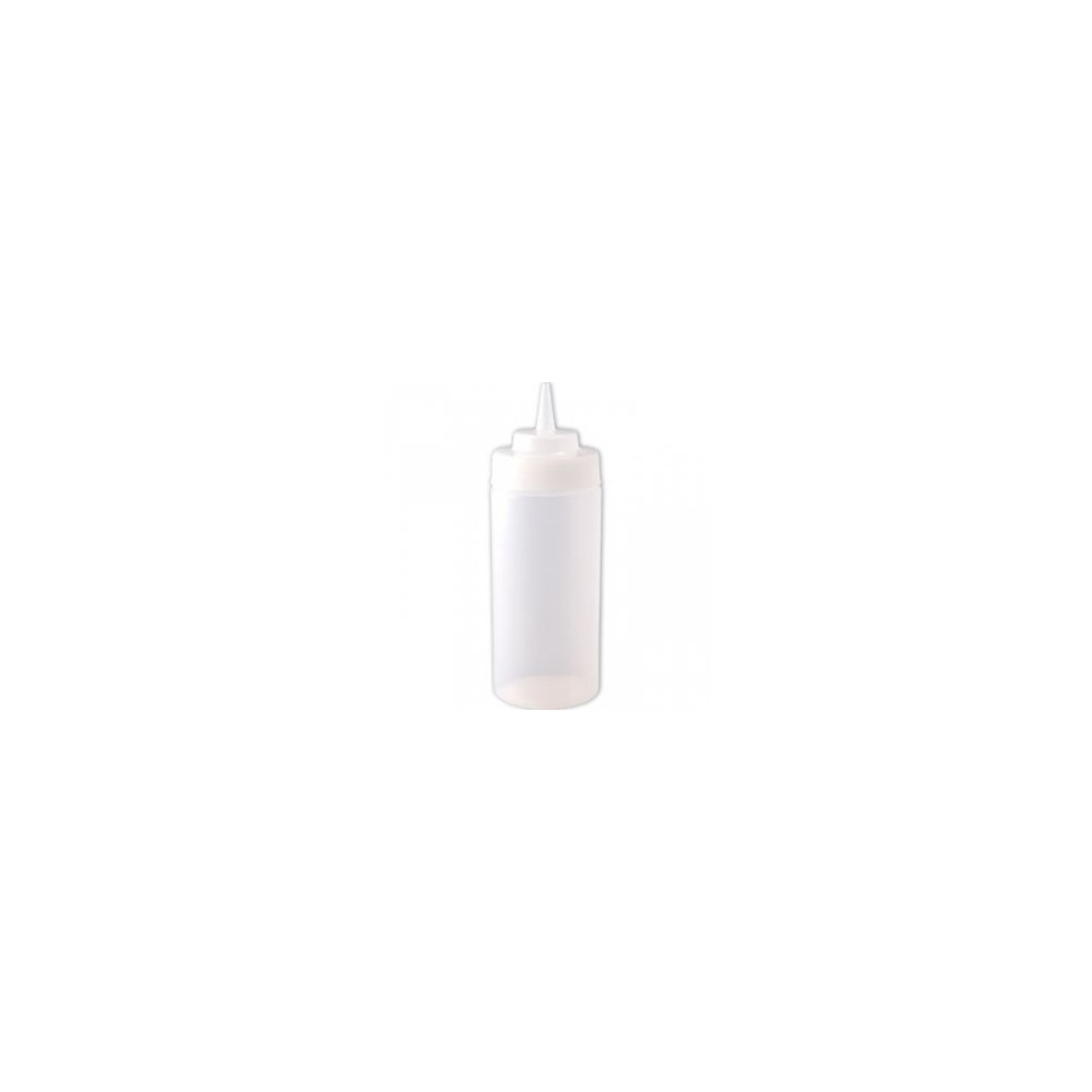 Squeeze bottle 45cl col large - transparente En plastique souple - Code article: SB045T
