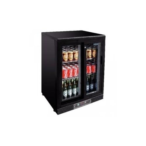 Arrière-bar - 1 porte coulissante - 140 bouteilles Capacité de 140 bouteilles de 330ml - Code article: VCRC1