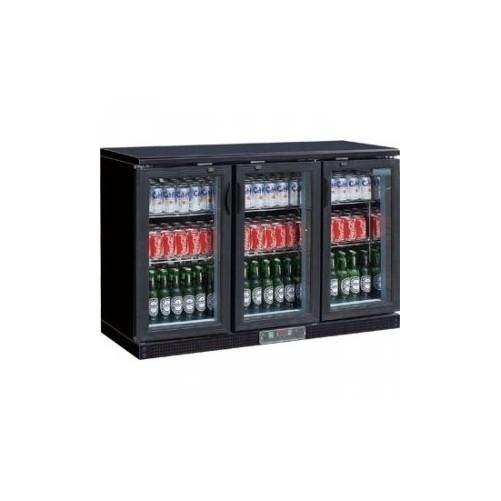 Arrière-bar noir 273 bouteilles Noir - 3 portes pivotantes - Code article: VCRP3