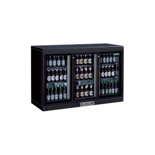Arrière-bar - 3 portes coulissantes - 273 bouteilles 3 portes finition noire - Code article: VCRC3