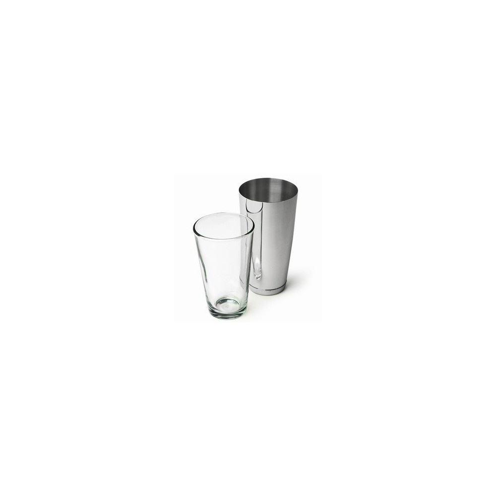 Le Boston shaker au complet Cocktail Shaker en inox 28oz / 800ml + Mixing Glass Libbey 470ml - Code article: AC001