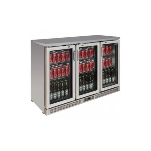 Arrière-bar portes à charnières 273 bouteilles Capacité 335 litres Inox. 3 portes - Code article: VCRIP3
