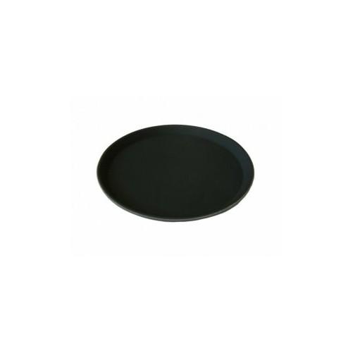 Plateau anti-dérapant - Ø 406 mm En plastique - Couleur noire - Code article: PS012