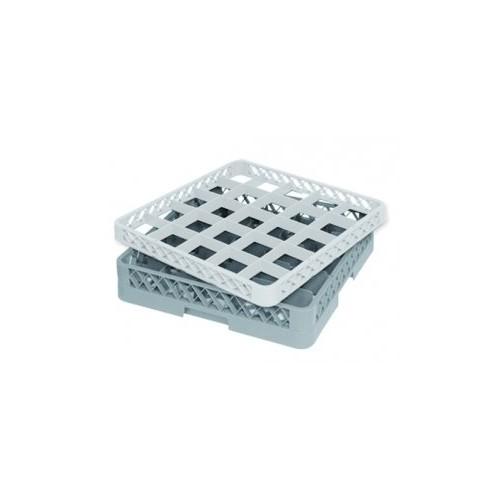 Casier à verres 25 compartiments Ø max du verre : 86mm - Dimensions : H100 x L500 x l500mm - Code article : DM062