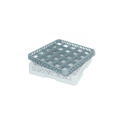 Rehausse de casier à verres 25 compartiments Ø max du verre : 86mm - Dimensions : H50 x L500 x l500mm - Code article : DM072