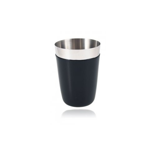 Shaker 16oz / 470ml avec gaine vinyle noire Partie en inox secondaire non-lestée du boston shaker - Code article: CS016BLK