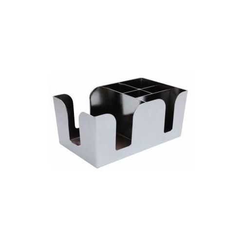 Bar caddy chromé - 6 compartiments D: 106x240x147mm - Code article: MO-011