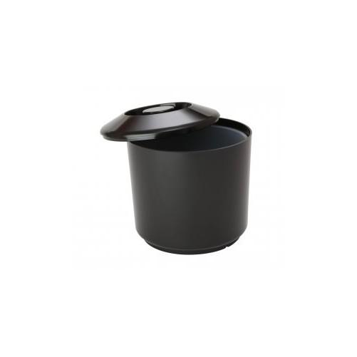 Seau à glace 4 litres rond En plastique - Couleur noire - Code article: UG116
