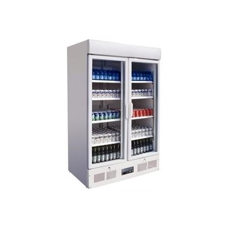 Vitrine réfrigérée haute 2 portes pivotantes Capacité: 944 litres. - Code article: VRHP14