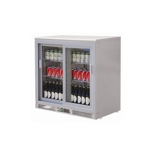 Vitrine réfrigérée de bar en inox 2 portes coulissantes Capacité : 223 litres - Code article: VCRIC2
