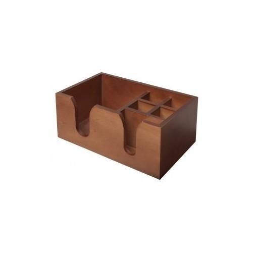 Bar caddy en bois - 6 compartiments - 156 x 257 x 111 mm
