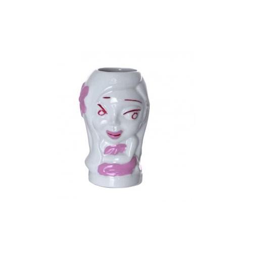 Tiki Mug Blanc - Hula Girl 26,5cl Verre en céramique trempé - Code article: TIKI022