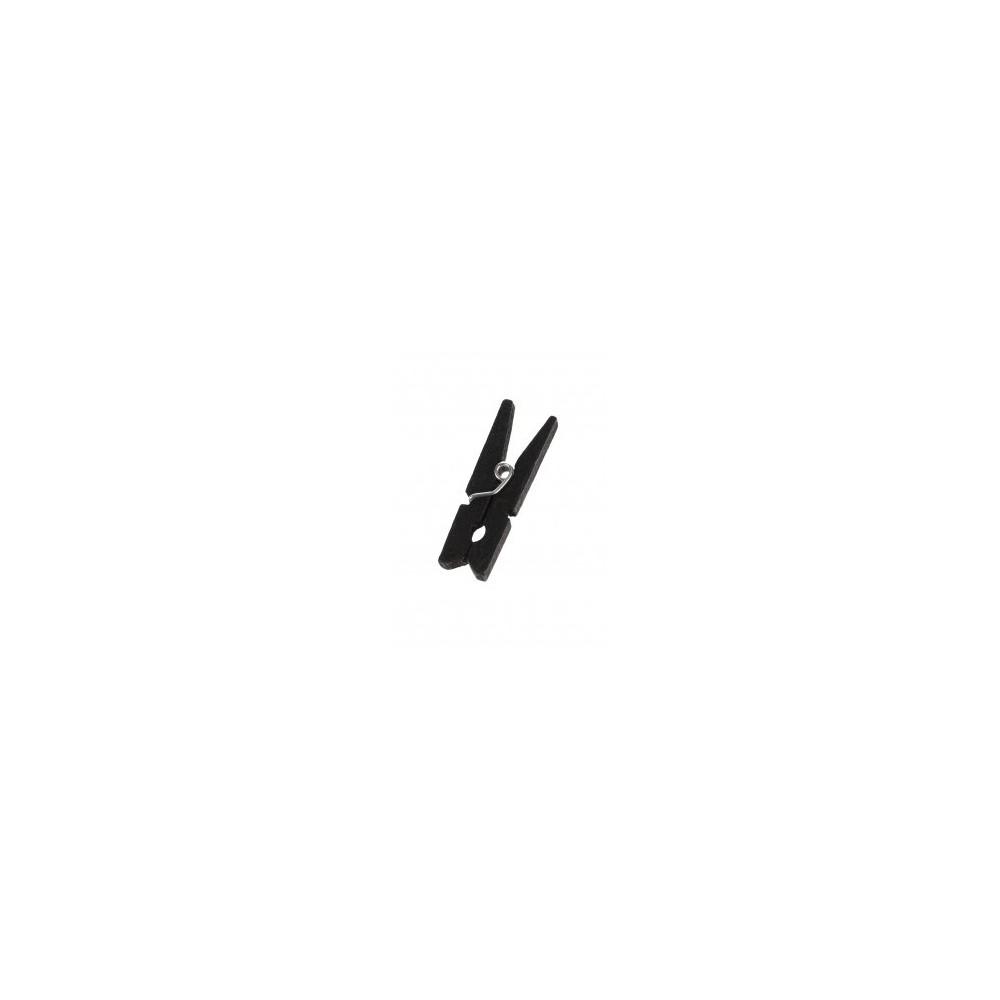 Pinces à linge noire - B100 Longueur: 3cm - Boite de 100 - Code article: UD158