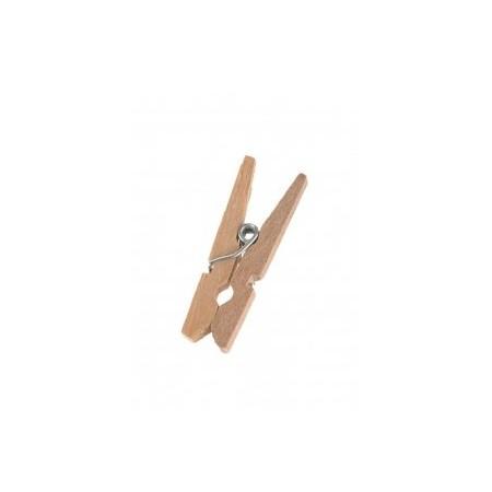 Pinces à linge naturelle - B100 Longueur: 3cm - Boite de 100 - Code artilce: UD159