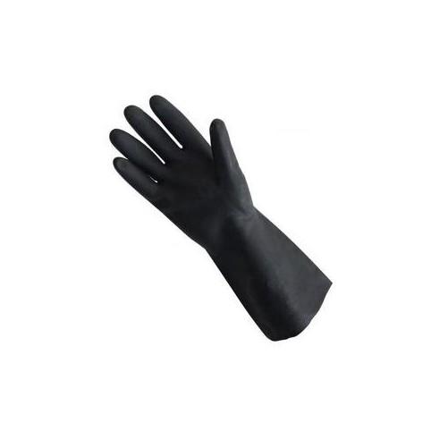 Gants de Ménage Noir Latex - Taille Large Vendu par paire - code article : VJ27