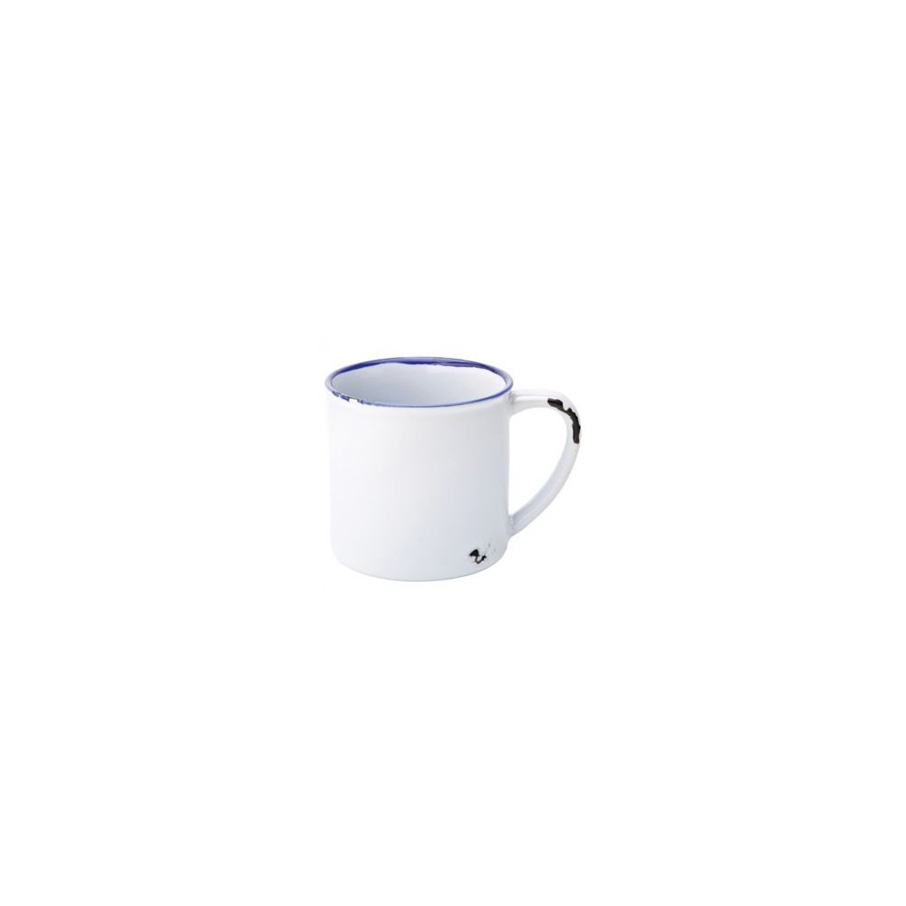 Mug Emaillé Blanc Bord Bleu 28cl - AVEBURY Vendu à l'unité - Code article: BARSOTOP519