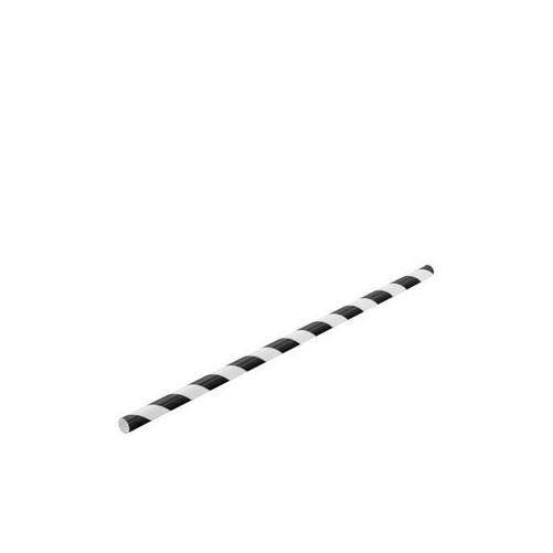 Pailles en papier noires et blanches 6x200mm Boite de 250 - Code article: BARSOTOP1396