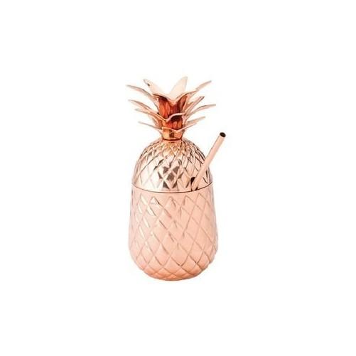 Tiki Ananas en cuivre avec sa paille - 57cl Vendu à l'unité - Code article: BARSOTOP1558