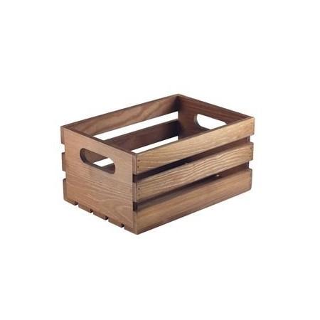 Caisse en bois finition rustique foncée 27 x 16 x 12 cm Code article: BARSONEV1613