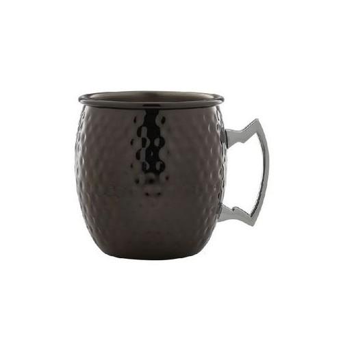 Moscow Mule Mug Ronde Aspect Martelé Noir - 55cl