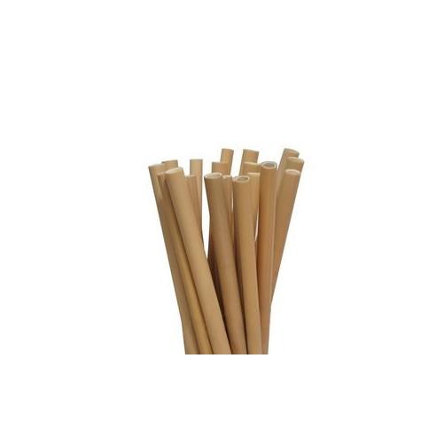 Pailles en bambou 30 cm - Sachet de 50