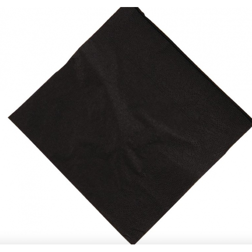 Serviettes à cocktails 25 x 25 cm - Noires