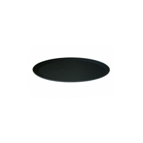 Plateau large anti-dérapant, en plastique noir 67 x 56 cm