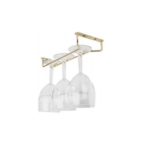 Support doré pour verres à pied - 254 mm