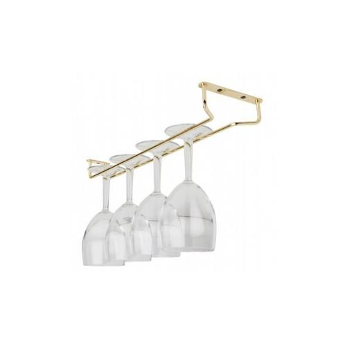 Support doré pour verres à pied - 40,6 cm